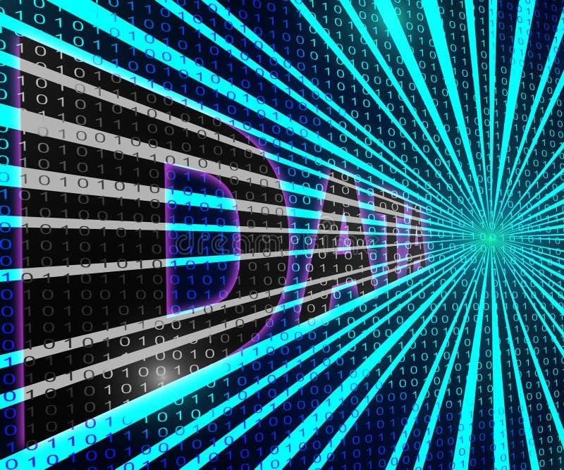 Het computernetwerk betekent Globale Mededelingen en Bytes vector illustratie