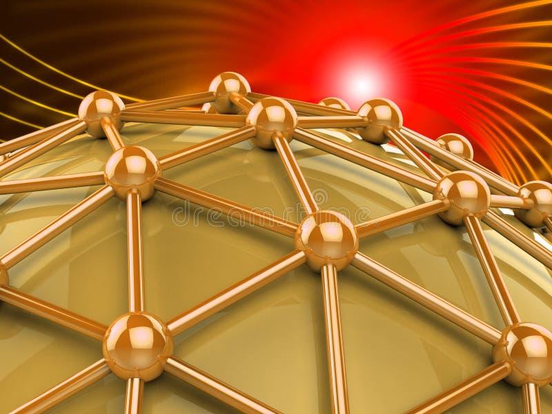 Het computernetwerk betekent Wereldlijk Web en Voorzien van een netwerk vector illustratie