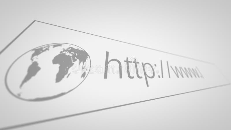 Het computerscherm met Adresbar van Webbrowser vector illustratie