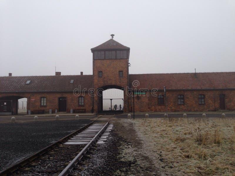 Het concentratiekamp Aushwitz van Polen royalty-vrije stock afbeeldingen