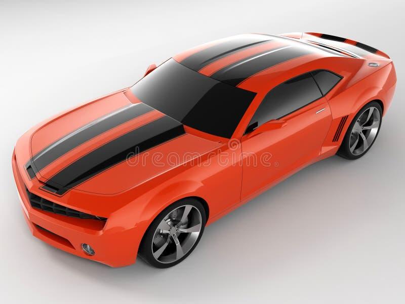 Het Concept 2009 van Camaro van Chevrolet stock illustratie