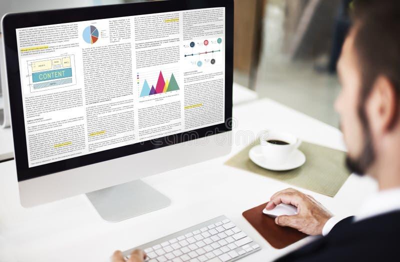 Het Concept artikel van de Bedrijfsinformatievisie stock foto's