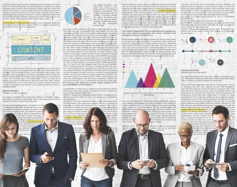 Het Concept artikel van de Bedrijfsinformatievisie stock afbeeldingen