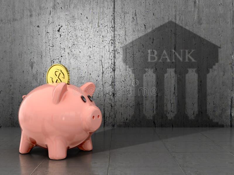 Het concept besparing en de accumulatie van geld vector illustratie