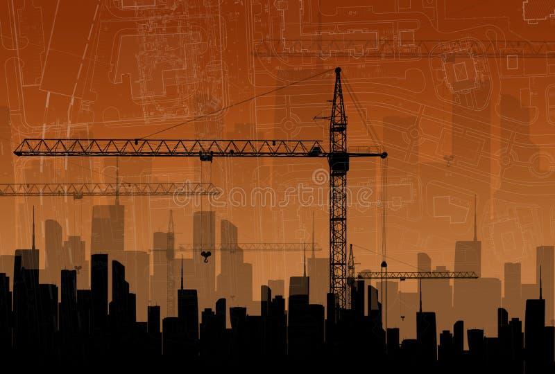 Het concept de bouw royalty-vrije illustratie