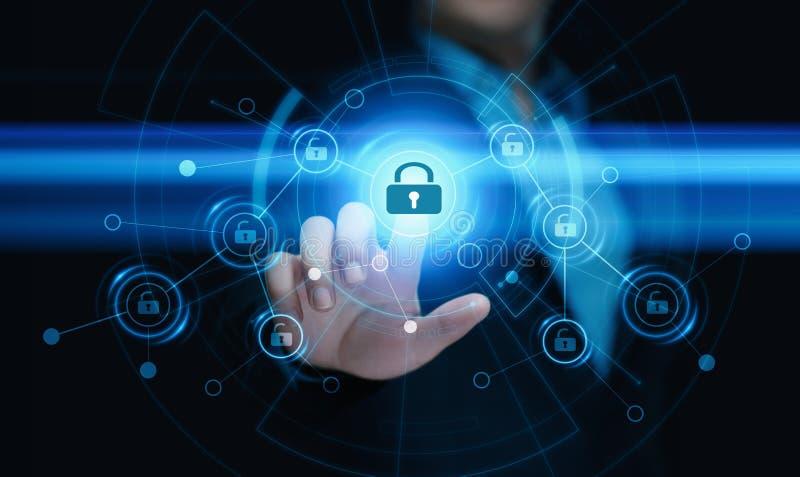 Het concept de Gegevensbescherming van de van de Bedrijfs cyberveiligheid Technologieprivacy royalty-vrije stock fotografie