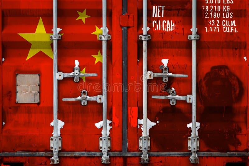 Het concept de uitvoer-invoer en nationale levering van goederen vector illustratie