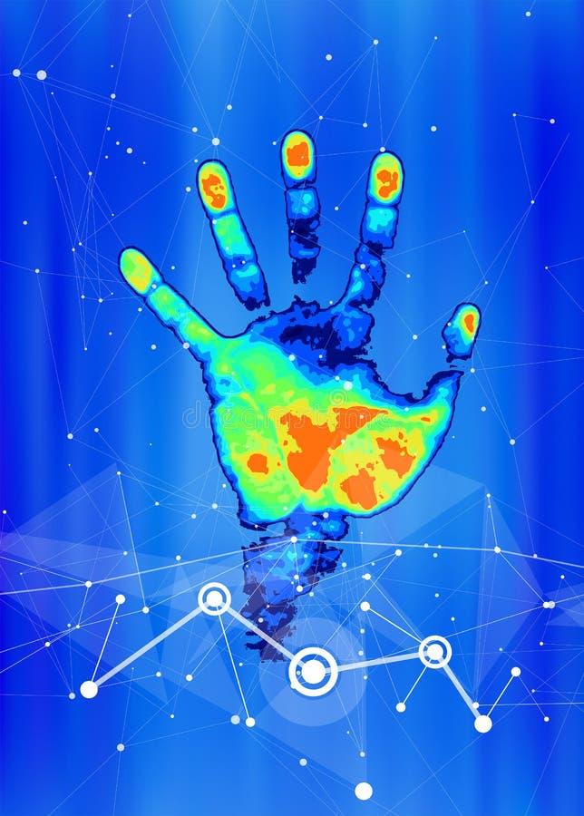 Het concept digitale identificatie en erkenning royalty-vrije illustratie