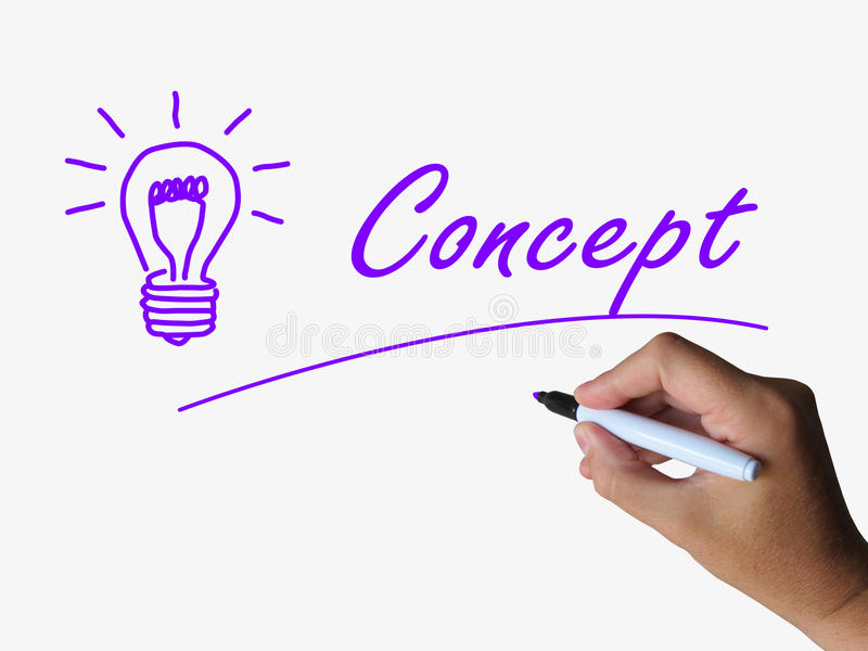Het concept en Lightbulb tonen Conceptieideeën royalty-vrije illustratie