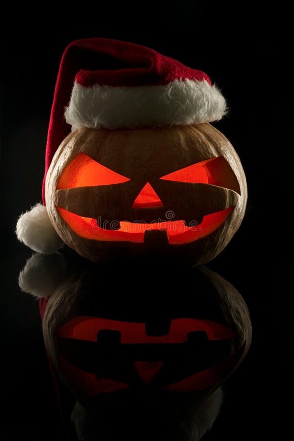 Het concept Halloween en het Nieuwjaar en Kerstmis Evi stock foto's