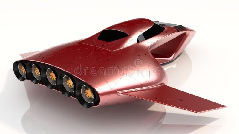 Het concept hangt toekomst van de Auto de Protechnologie stock afbeelding
