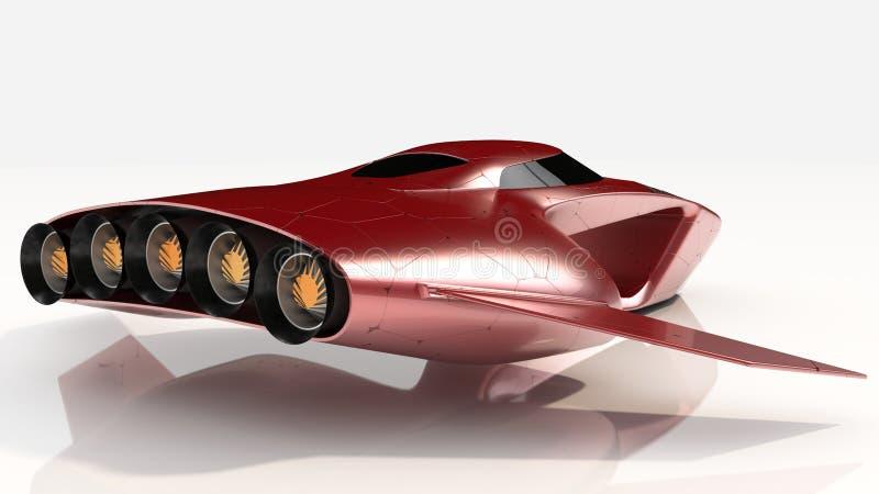 Het concept hangt toekomst van de Auto de Protechnologie stock fotografie