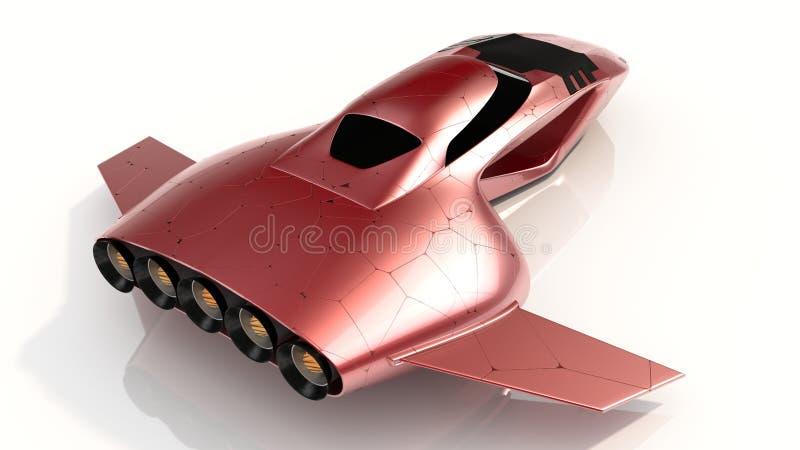 Het concept hangt toekomst van de Auto de Protechnologie royalty-vrije stock afbeelding