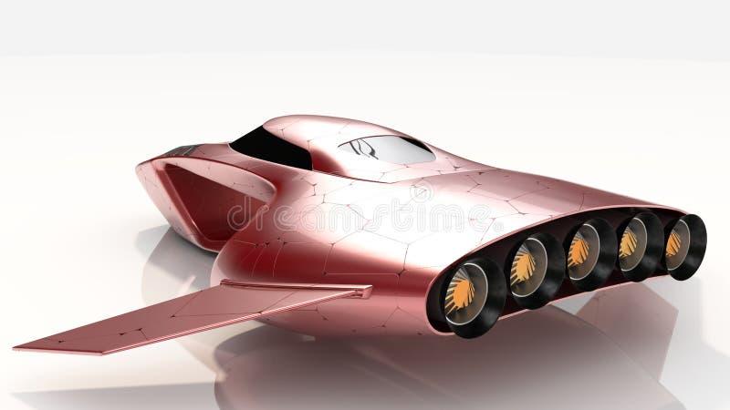 Het concept hangt toekomst van de Auto de Protechnologie royalty-vrije stock fotografie