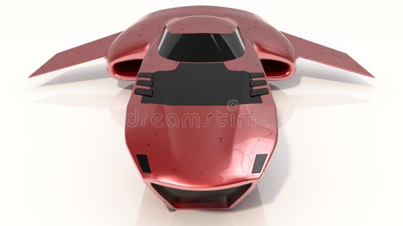 Het concept hangt toekomst van de Auto de Protechnologie stock foto