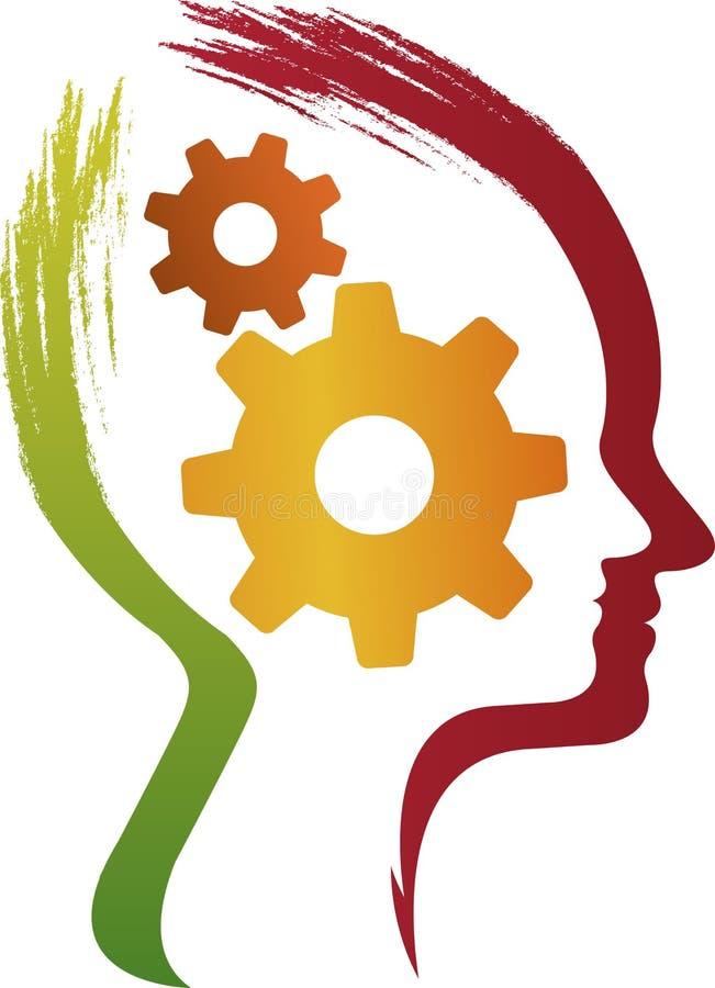 Het concept het functioneren van de menselijke hersenen royalty-vrije illustratie
