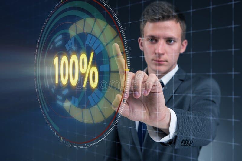 Het concept honderd percenten 100 royalty-vrije stock afbeelding