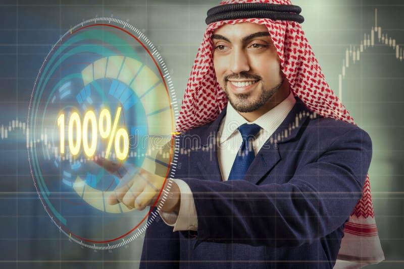 Het concept honderd percenten 100 stock afbeelding