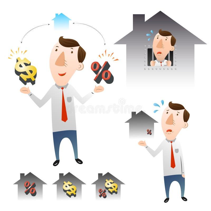 Het concept huisvestingsleningen vector illustratie