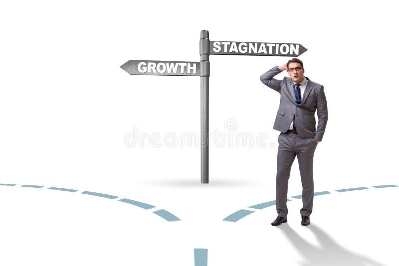 Het concept keus tussen de groei en stagnatie royalty-vrije stock afbeeldingen