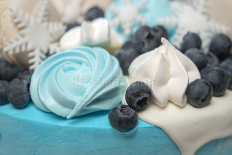 Het concept het koken De winter stollen cake Cake voor de wintervakantie royalty-vrije stock afbeelding