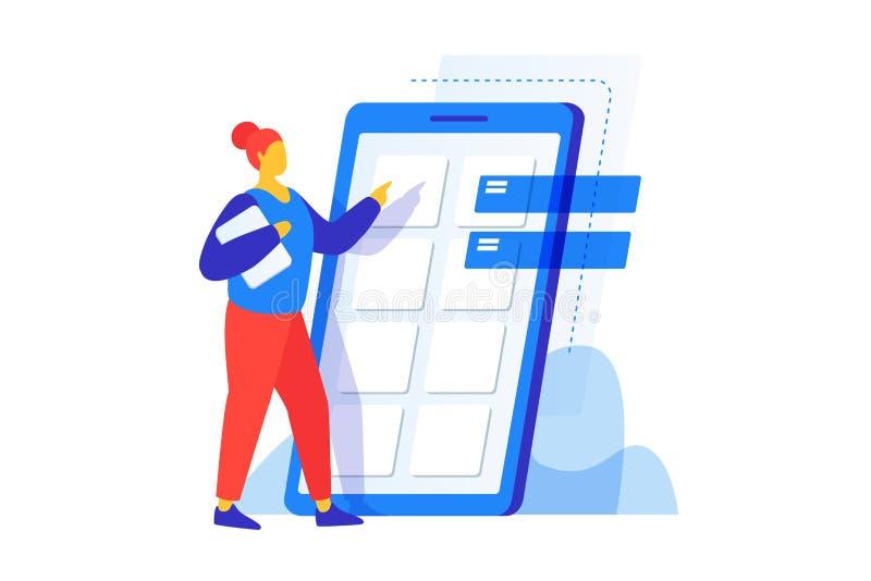 Het concept mobiele toepassingsontwikkeling stock illustratie