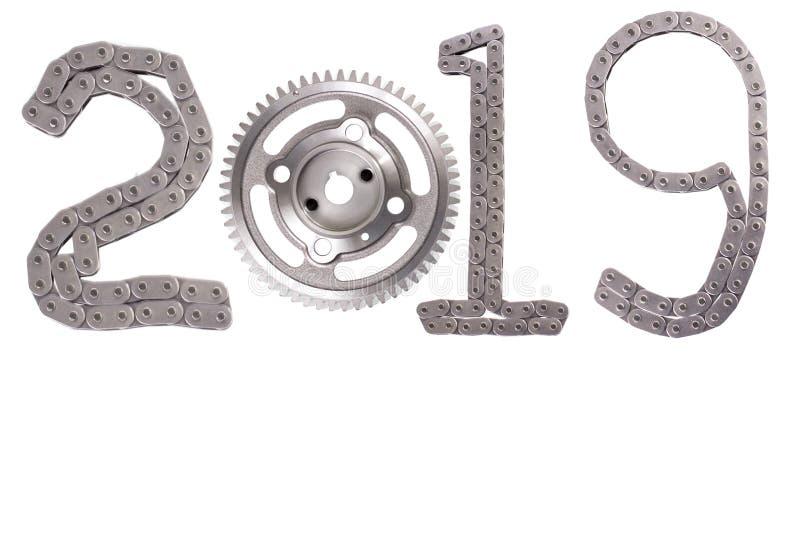 Het concept nieuw jaar, twee duizend negentien stock foto's