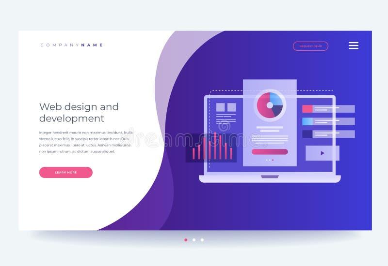 Het concept het ontwikkelen van mobiele UI/UX-interface De digitale industrie Innovaties en technologieën vector illustratie