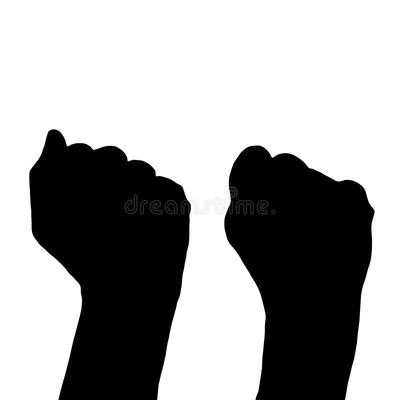 Het concept politieke strijd Handen vector illustratie