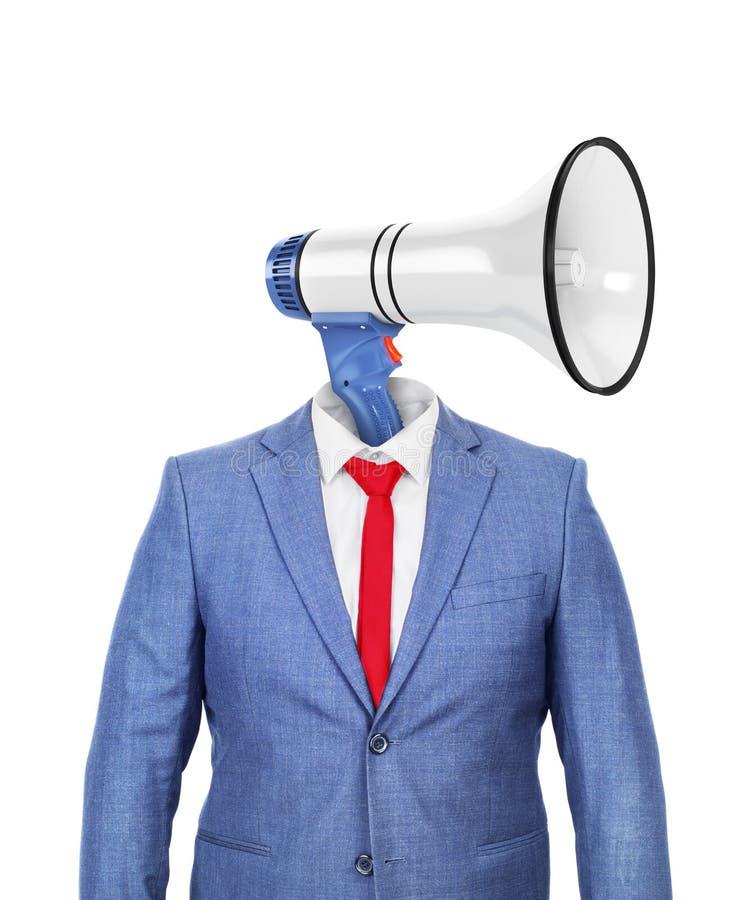 Het concept propaganda Een hol kostuum met een hoofd royalty-vrije stock foto's