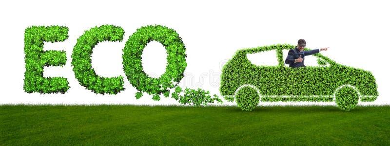 Het concept schone brandstof en eco vriendschappelijke auto's stock afbeeldingen