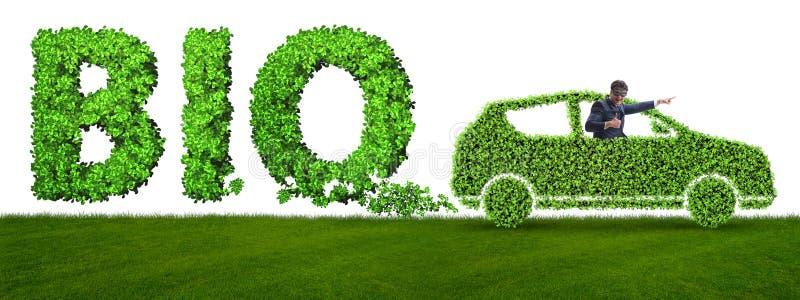 Het concept schone brandstof en eco vriendschappelijke auto's stock afbeelding