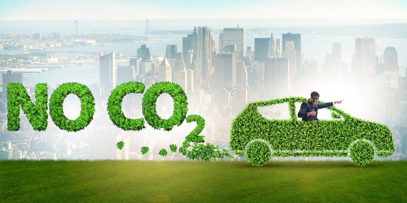 Het concept schone brandstof en eco vriendschappelijke auto's royalty-vrije stock afbeelding