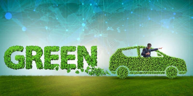 Het concept schone brandstof en eco vriendschappelijke auto's stock foto