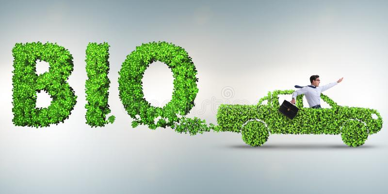 Het concept schone brandstof en eco vriendschappelijke auto's royalty-vrije stock afbeeldingen