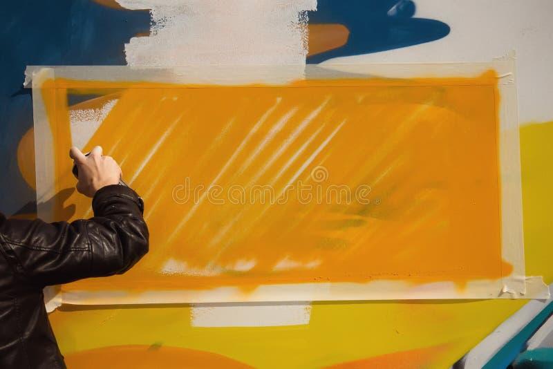 Het concept straatkunst en onwettig vandalisme stock afbeelding