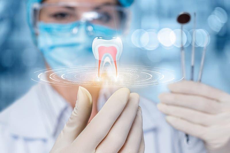 Het concept tandbehandeling stock afbeeldingen