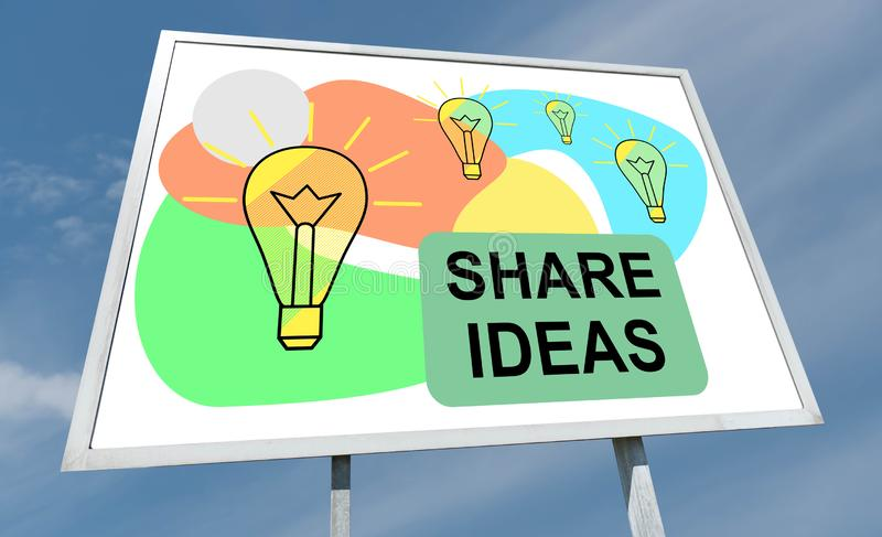 Het concept van aandeelidee?n op een aanplakbord stock foto's