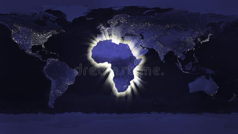 Het concept van Afrika stock fotografie
