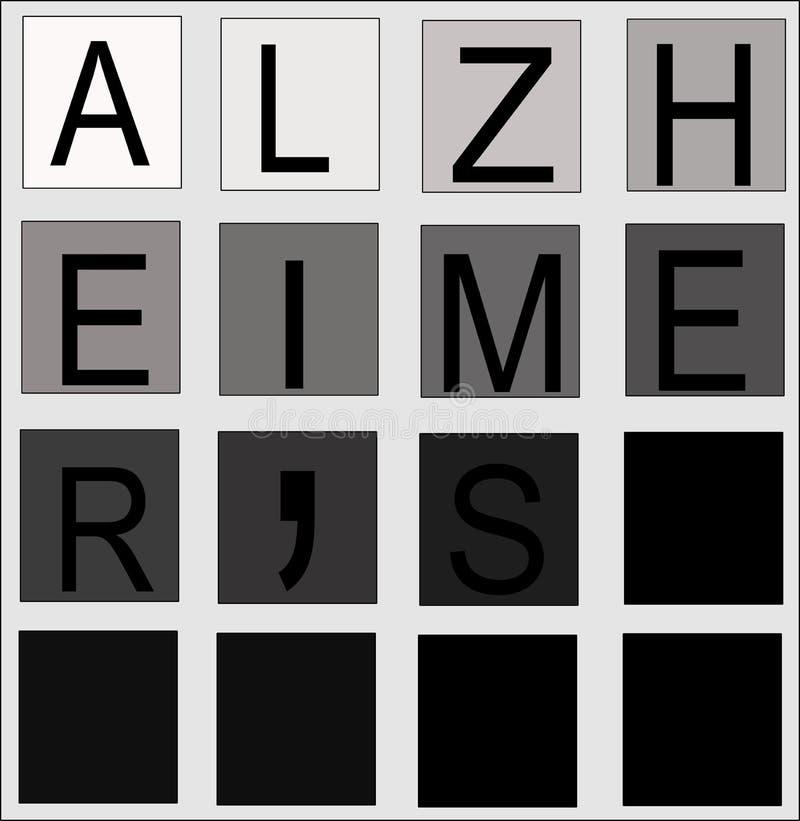 Het concept van Alzheimers royalty-vrije stock fotografie