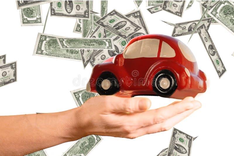 Het concept van autouitgaven stock foto