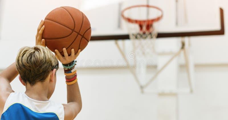 Het Concept van Basketball Bounce Sport van de busatleet royalty-vrije stock foto's
