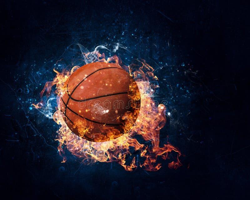 Het concept van het basketbalspel stock fotografie