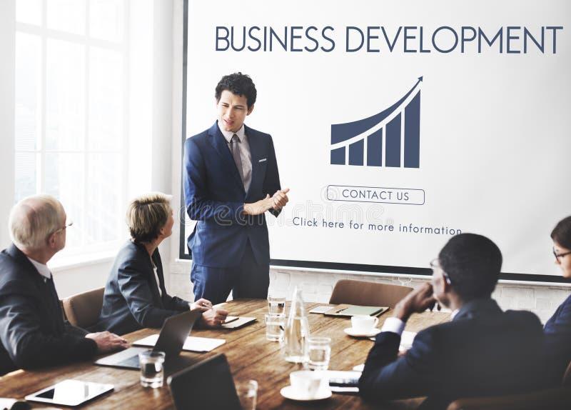 Het Concept van bedrijfsontwikkelings Start de Groeistatistieken royalty-vrije stock foto