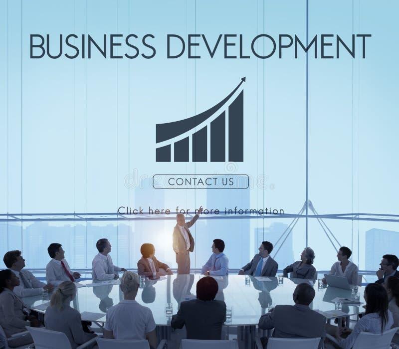 Het Concept van bedrijfsontwikkelings Start de Groeistatistieken stock afbeeldingen