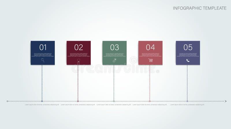 Het concept van het bedrijfssuccesgroepswerk Concept van het bedrijfsmensen het Collectieve Succes 3 stap Infographic Het concept royalty-vrije illustratie