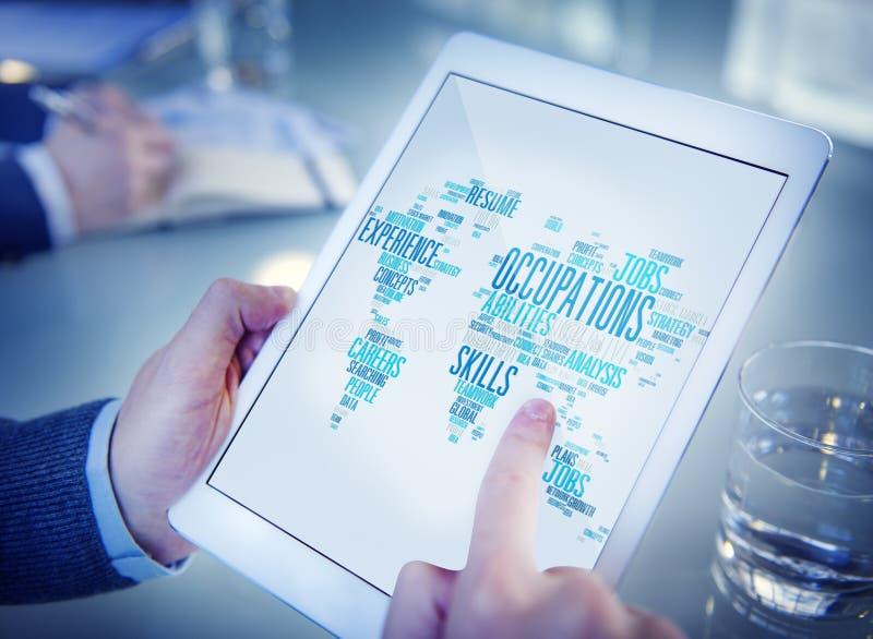 Het Concept van beroepsjob careers expertise human resources stock foto