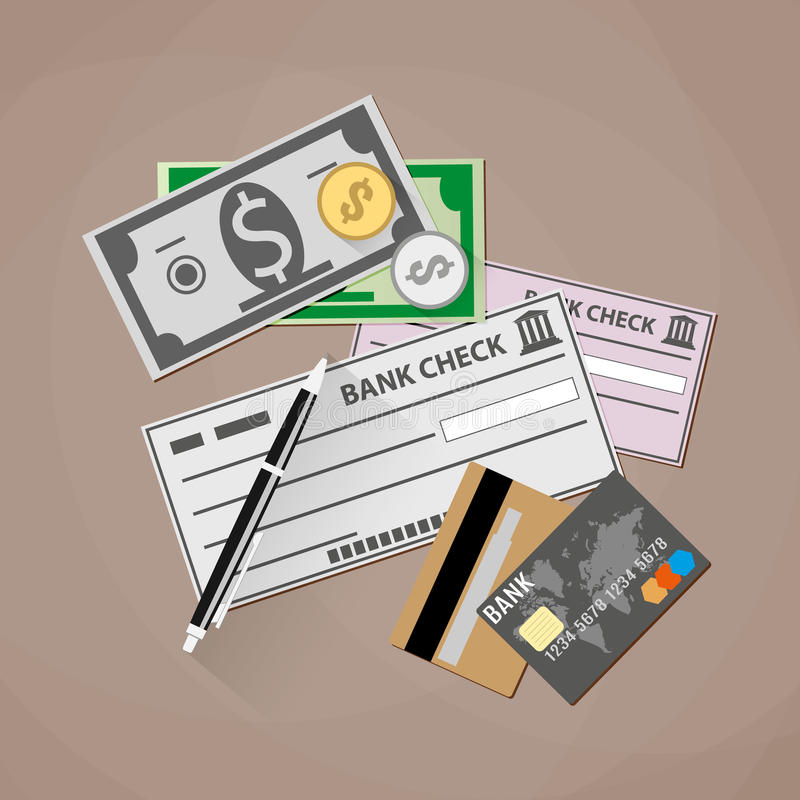 Het concept van betalingsmethodes vector illustratie