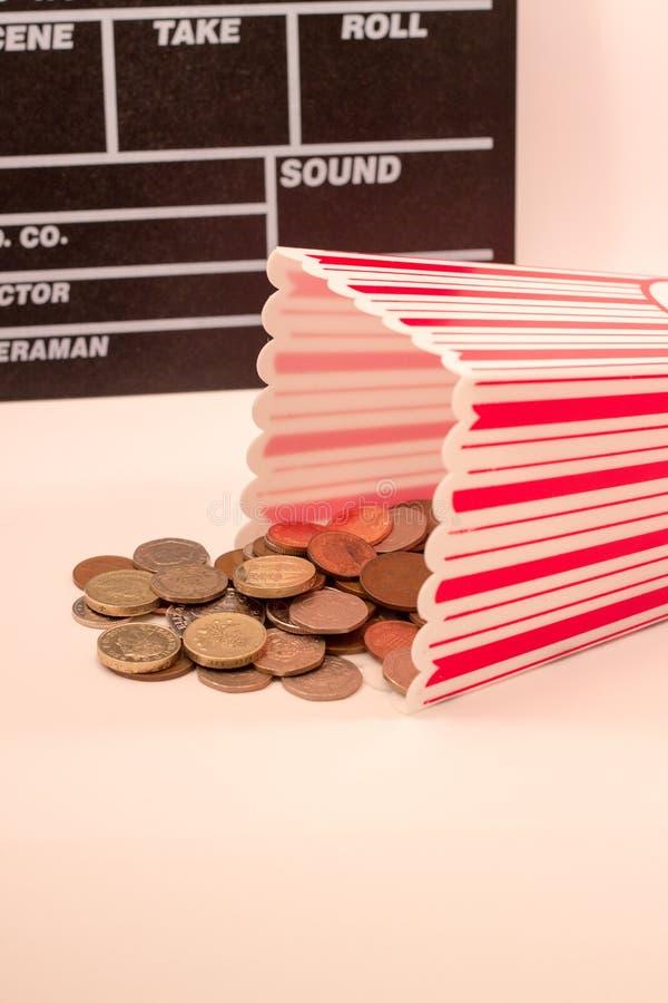 Het Concept van bioskoopkosten royalty-vrije stock afbeeldingen