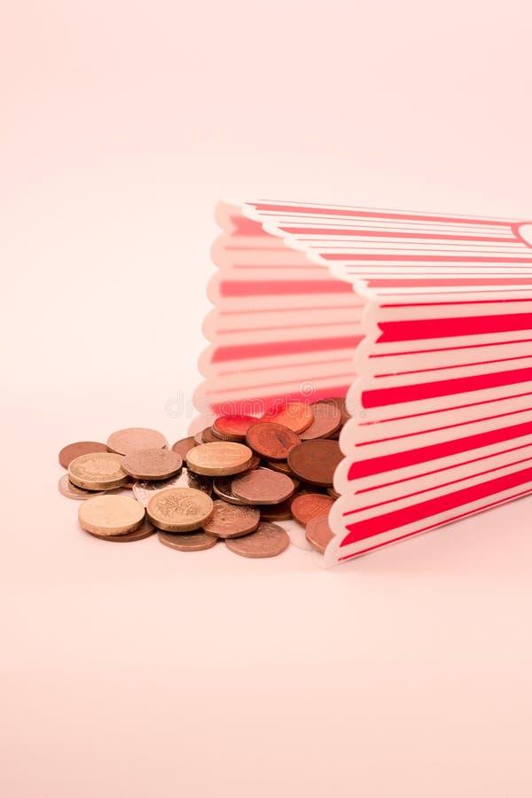 Het Concept van bioskoopkosten stock foto